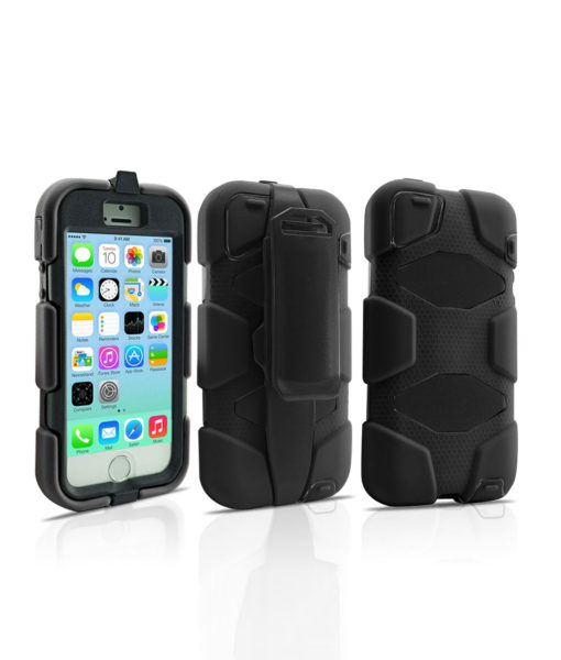 Military Series Case iPhone 5-5s Noir