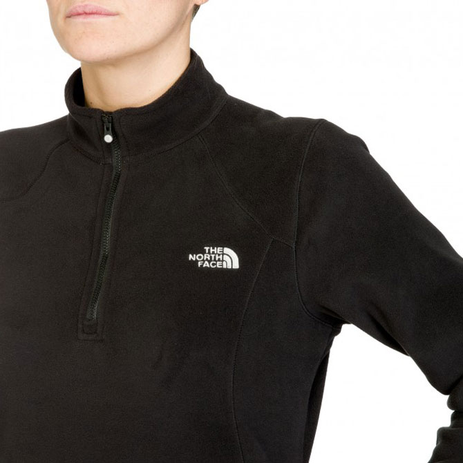 fda68d5803 The North Face 100 Glacier 1-4 Zip True Black Femme 01