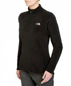 The North Face 100 Glacier 1/4 Zip True Black Femme
