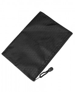 Bulbiform zipper bag black