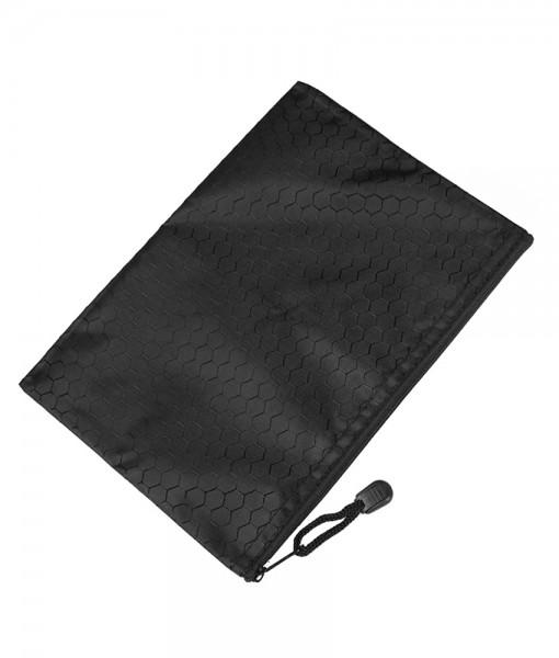 Bulbiform zipper bag black