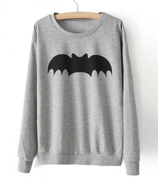 Sweatshirt Bat Heather Grey
