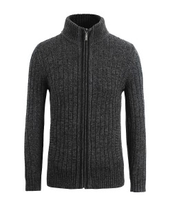 Cardigan zippé Skive Dark Grey 1