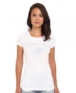 Converse T-shirt Sabina Blanc Femme 01