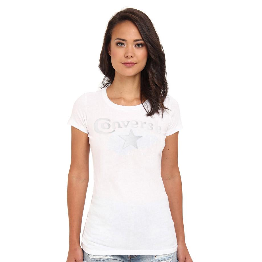 tee shirt converse femme blanc