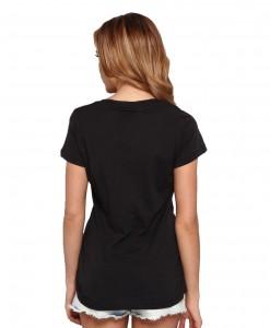 Converse T-shirt Sabina Noir Femme 02