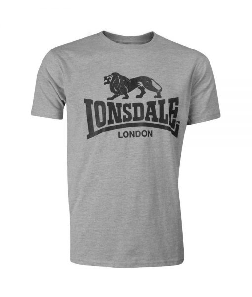 Lonsdale Logo T-Shirt Marl Grey
