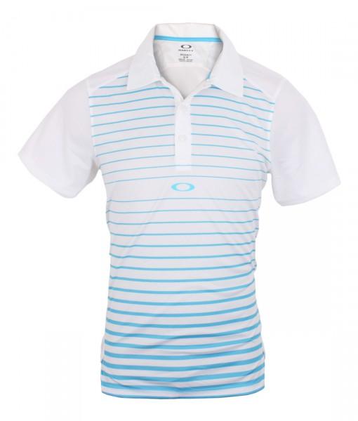 Oakley Gamer Polo White Light blue 01