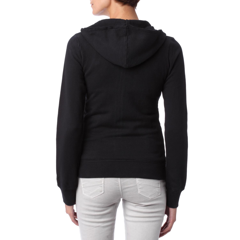 Sweat zippé à capuche Jodie Noir Femme - Converse   Terres Extrêmes 03e9ef37d3cb