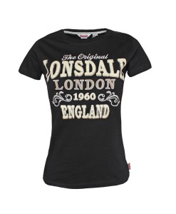 T-Shirt Betsy Black Girly Lonsdale 1