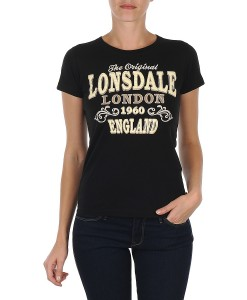 T-Shirt Betsy Black Girly Lonsdale 8
