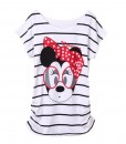 T-shirt Femme Minnie Mouse Black Stripes