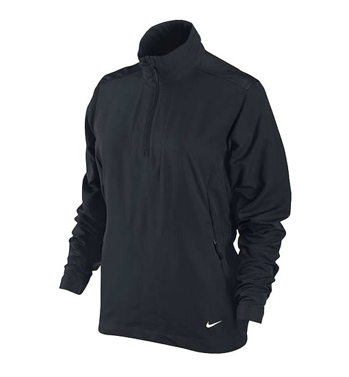 Nike Ladies Windproof Half Zip Jacket Black