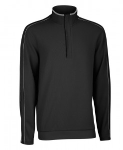 Ashworth French Rib Solid Pullover Noir 01