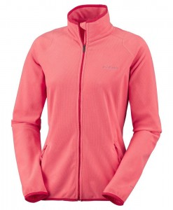 Summit Rush Full Zip Hot Coral