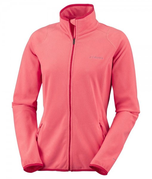 Columbia Summit Rush Full Zip Hot Coral Femme 01