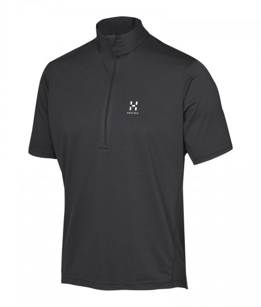 Haglöfs Ridge SS Zip Tee True Black H