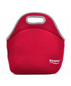 Keeper Mini Insulated Neoprene Lunch Bag Red