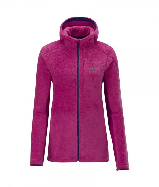 Salomon High Pile Hooded Midlayer Wild Berry 01