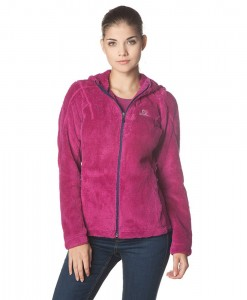 Salomon High Pile Hooded Midlayer Wild Berry 05