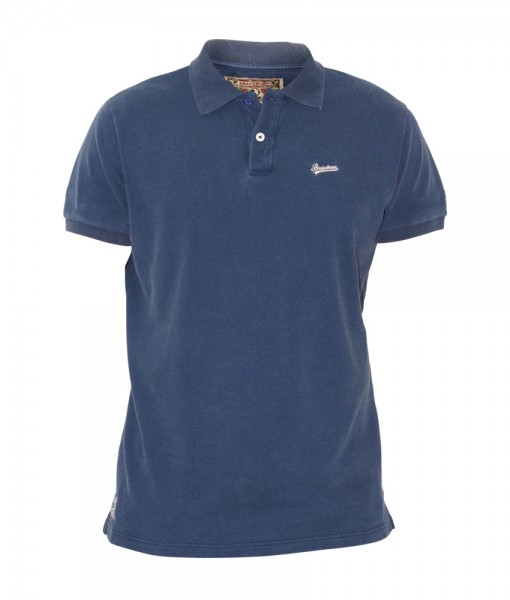 Brakeburn Pique Polo Washed Navy 01