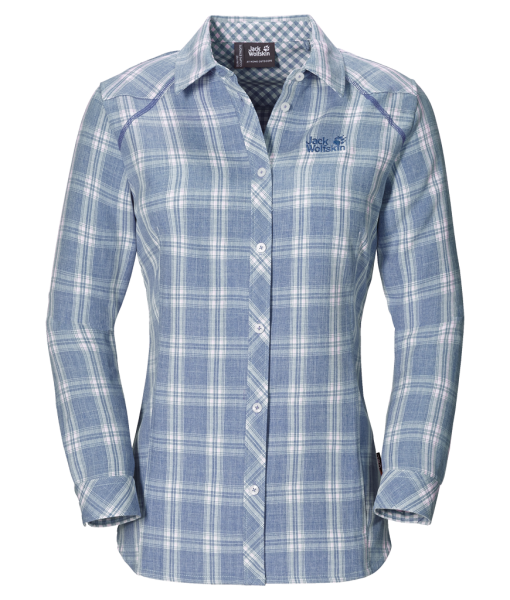 Jack Wolfskin Harrison Shirt Smoke Blue Checks W
