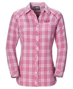 Jack Wolfskin Harrison Shirt Smoke Pink Passion Checks W