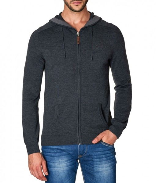 Paul Stragas Jersey Hooded Cardigan PU-232-139-01