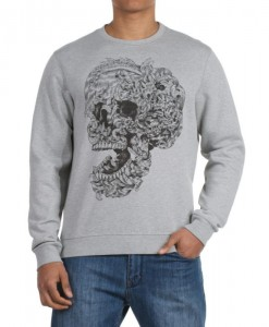 Sweatshirt Eye Animal Gris 01