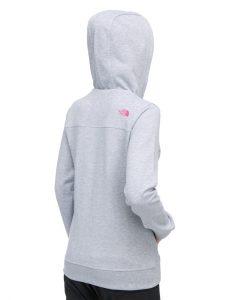 The North Face Original FZ Hoodie W Heather Grey Pink