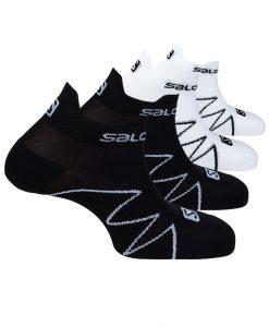 Chaussettes Salomon XA SONIC Black-White S01