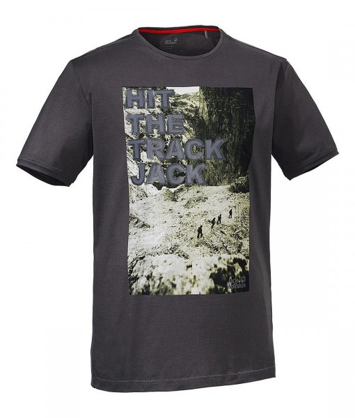 Jack Wolfskin T-shirt Track Dark Steel 2