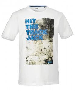 Jack Wolfskin T-shirt Track White Rush