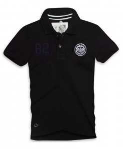 Paul Stragas Polo piqué Number 82 Black 02