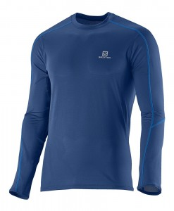 Salomon Trail Runner LS Tee M Midnight Blue 01