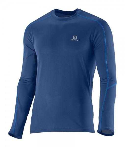 Salomon Trail Runner LS Tee M Midnight Blue 01