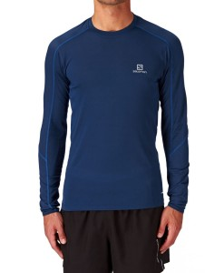 Salomon Trail Runner LS Tee M Midnight Blue 02