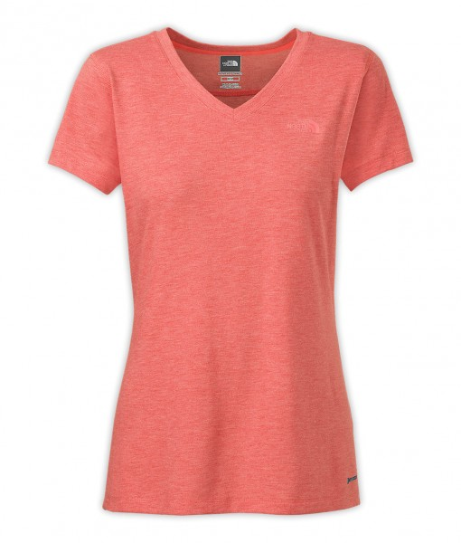 T-Shirt The North Face S/S RDT V-Neck Fire Brick Red Heather