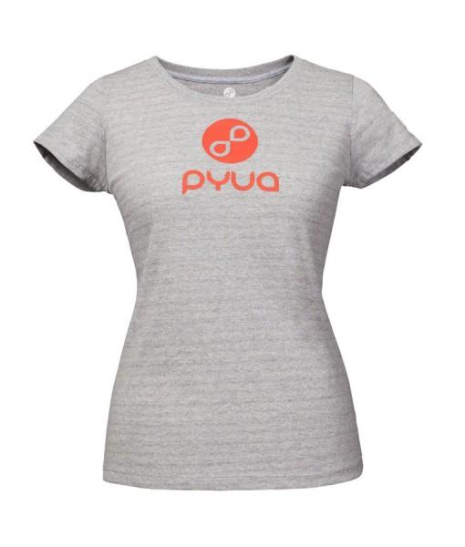 T-shirt Pyua Logo T-Y Grey Femme 01