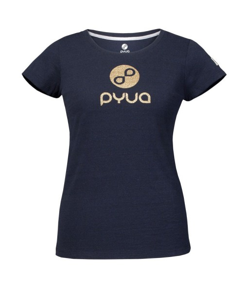 T-shirt Pyua Logo T-Y Navy Blue Gold 01