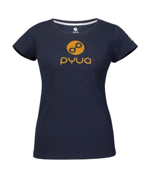 T-shirt Pyua Logo T-Y Navy Blue Orange 01