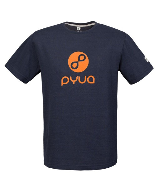 T-shirt Pyua Loop T-Y Navy Blue Orange 01