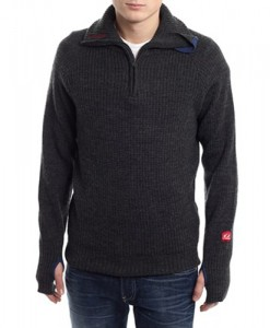 Ulvang Rav sweater w-zip Charcoal 04