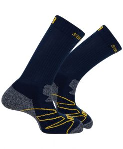 Chaussettes-Salomon-EXIT-Midnight-Blue-Yellow-S02