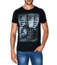 Paul Stragas T-shirt Life Experience Black 843