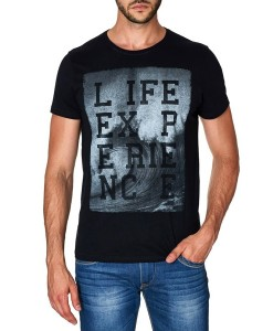 Paul Stragas T-shirt Life Experience Black 843