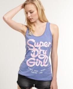 Superdry Débardeur Girl Gritty Menthol Marl TL03