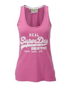 Superdry Débardeur Vintage Logo Bubblegum Pink