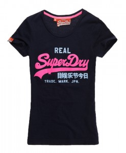 Superdry T-shirt Vintage Glitter Eclipse Navy TL02
