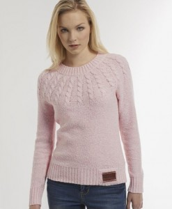 Superdry Pastel Pink Propeller Crew W A03